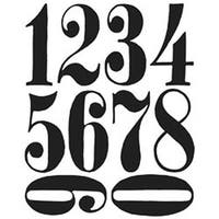 """Numeric - Tim Holtz Cling Rubber Stamp Set 7""""X8.5"""""""