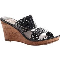 Madeline Women's Cactus Wedge Sandal Black