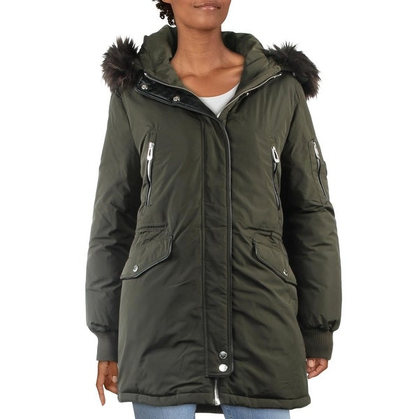 Noize Womens Marly Parka Coat Winter Hooded - Black - S. Opens flyout.