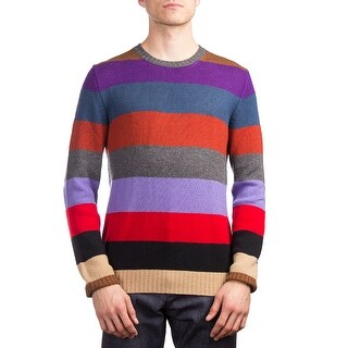 Prada Men's Cashmere Crewneck Striped Sweater Multicolor (3 options available)