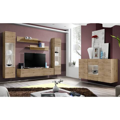 Fly SBII-A3 Wall Mounted Floating Modern Entertainment Center