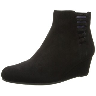 Vaneli NEW Navy Blue Women's Shoes Size 11M Ankle Suede Boots