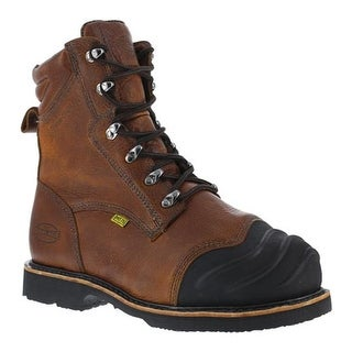 """Iron Age Men's Thermo Shield 8"""" Smelter's Work Boot Dark Brown Full Grain Leather"""