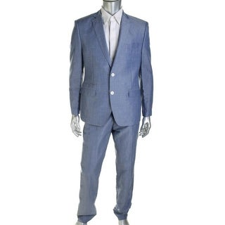 Tallia Mens Wool Blend Flat Front Two-Button Suit - 44S