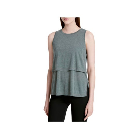 Calvin Klein Performance Womens Epic Tank Top Tiered Heathered