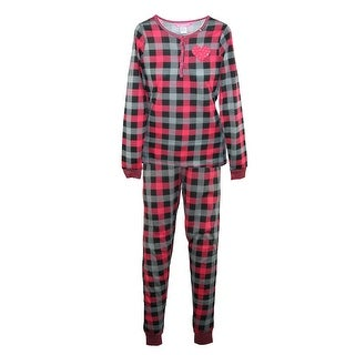 Love Loungewear Women's Henley and Jogger Pajama Set (Option: Red)