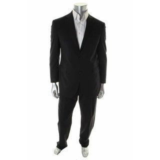 Hickey Freeman Mens Wool Blend Lined Two-Button Suit - 46L
