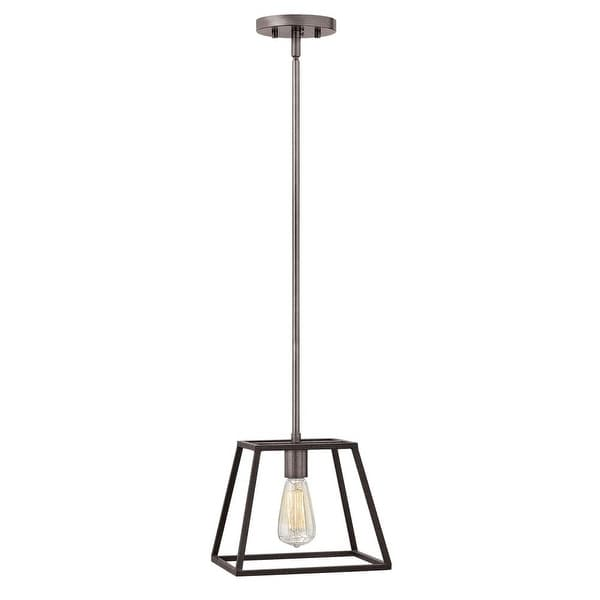 Hinkley Lighting 3337DZ 1-Light Pendant from the Fulton Collection - aged zinc - n/a