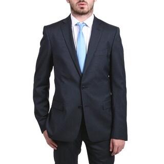Versace Collection Men's Pinstripe Two-piece Wool Suit Dark Grey/Blue