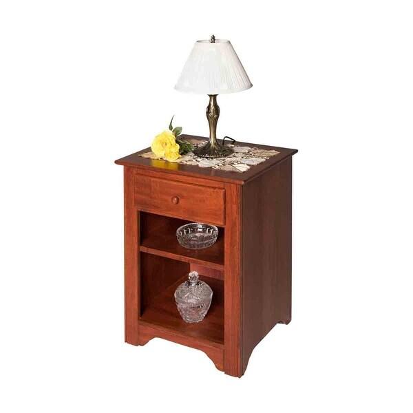 Rectangular Wooden Cherry Bedroom Nightstands Living Room End Tables