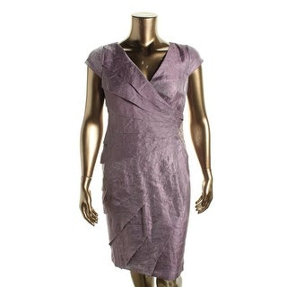 London Times Womens Cocktail Dress Shimmer Beaded - 10