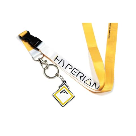 Borderlands 3 Hyperion Lanyard with Charm - Yellow