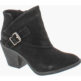 Blowfish Womens Suba Ankle Bootie  black fawn pu