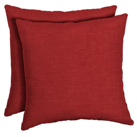 Arden Selections Ruby Leala Texture Outdoor Square Pillow 2-Pack - 16 in L x 16 in W x 5 in H