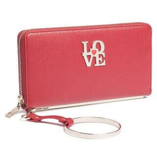 Moschino JC5511 0500 Red Zip Around Wallet - 7.5-4-1.2