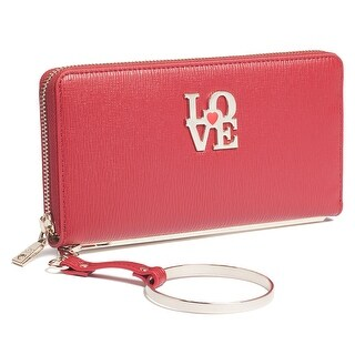 Moschino JC5511 0500 Red Zip Around Wallet - 7.5-4-1.2