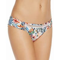 Lucky Brand White Womens Size Large L Floral Hipster Bikini Bottom