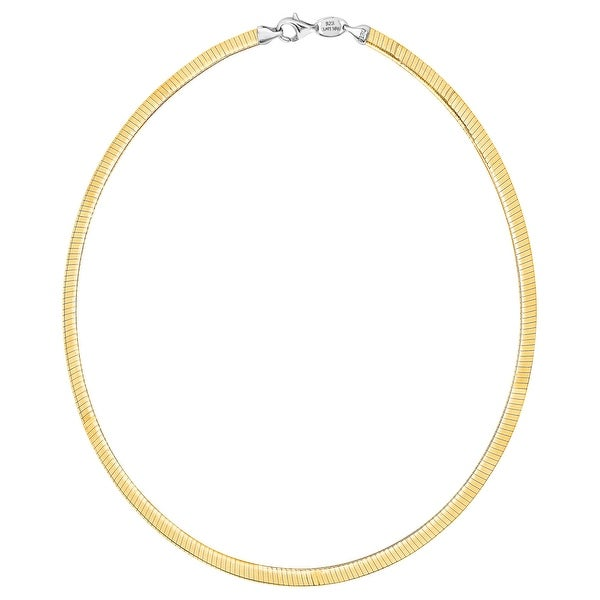 Reversible Avolto Omega Chain Necklace in 10K Gold-Bonded Sterling Silver