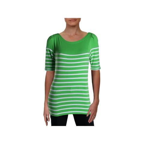 RALPH LAUREN Green Dolman Sleeve T-Shirt Top S