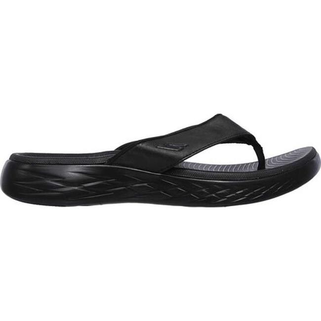 Skechers Men's On the GO 600 Seaport Thong Sandal BlackBlack