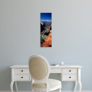 Easy Art Prints Panoramic Images's 'View from Observation Point, Zion National Park, Utah, USA' Premium Canvas Art