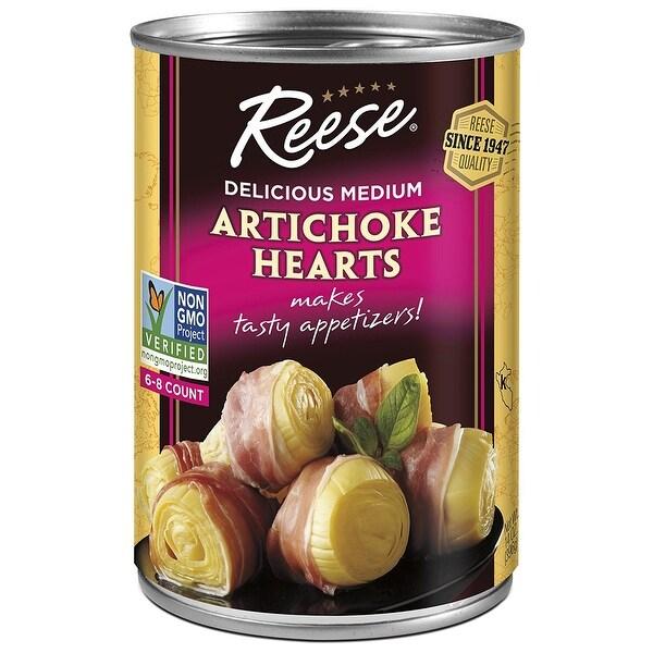 Reese Artichoke Hearts - Delicious Medium - Case of 12 - 14 oz.