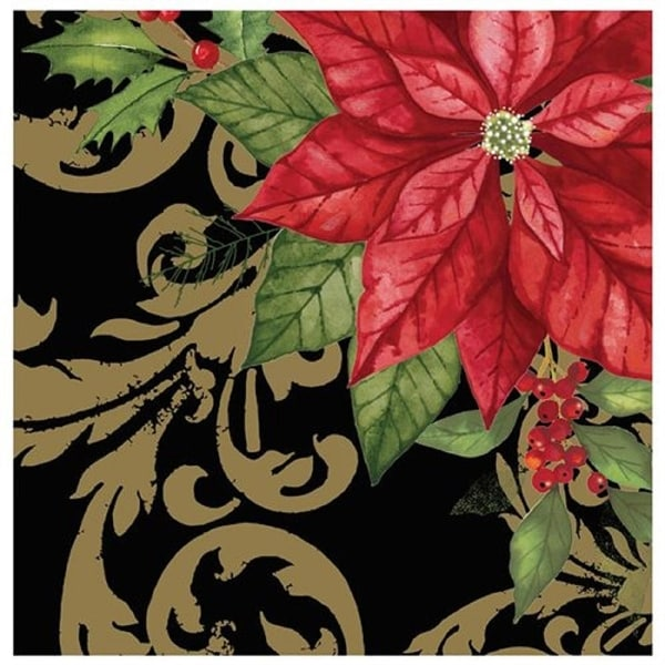 Club Pack of 192 Holiday Elegance 3-Ply Disposable Lunch Napkins 6.5""
