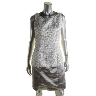 B Michael Womens Cocktail Dress Textured Mesh Inset