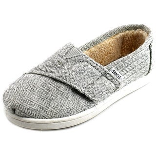 Toms Classic Youth Round Toe Canvas Gray Loafer