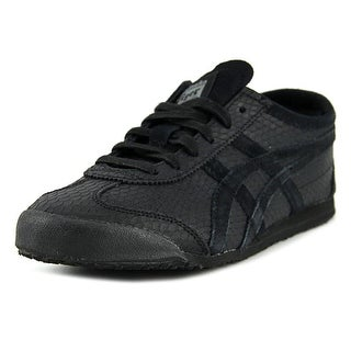 Onitsuka Tiger by Asics Mexico 66 Men Round Toe Leather Black Sneakers