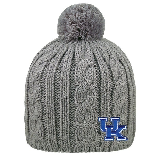 243ddb69e1b Shop University of Kentucky Cumberland Pom Pom Beanie (Grey) - Free  Shipping On Orders Over  45 - Overstock - 25613246