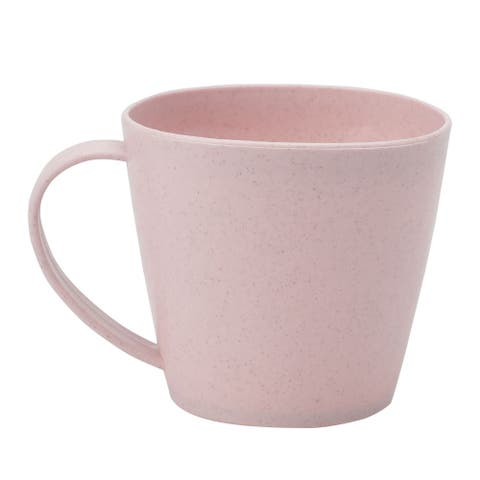 "Office Restaurant Water Coffee Tea Juice Drinking Cup Mug Pink 250ml - 4""x3.1""x3""(Mouth Dia*H*Bottom Dia)"