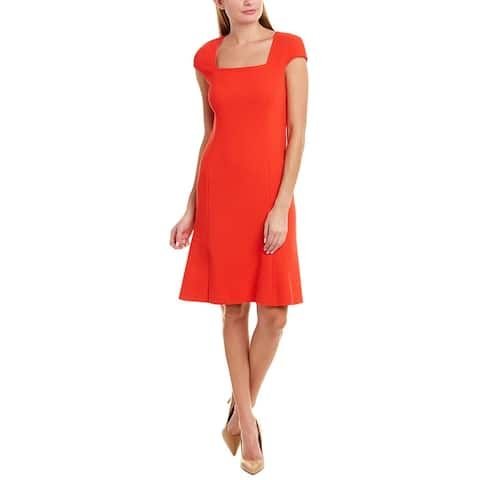 Oscar De La Renta Wool Sheath Dress