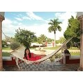 Sunnydaze American Style Mayan Hammock with Spreader Bar, Natural - Thumbnail 1