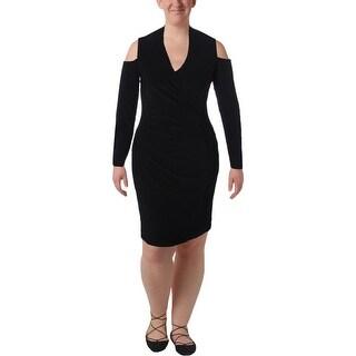 Lauren Ralph Lauren Womens Dawnie Wear to Work Dress Surplice Gathered