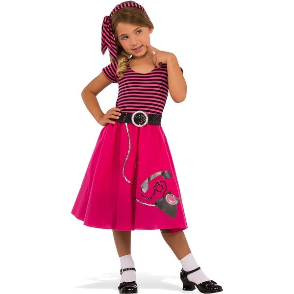 girls 50s girl retro halloween costume