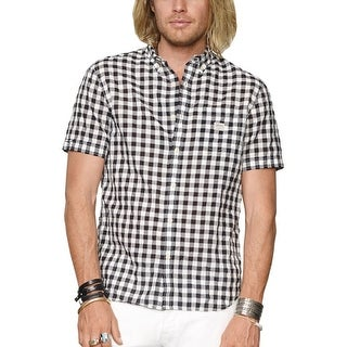 Denim and Supply Ralph Lauren Short Sleeve Check Shirt Black and White X-Large