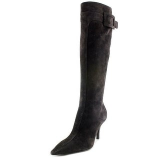 Roger Vivier Stivale Bouckle T.85 F.ric. Pointed Toe Suede Over the Knee Boot