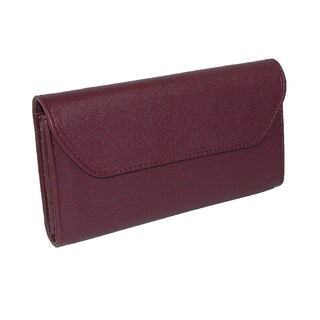 Buxton Women's Checkbook Clutch Wallet with Calculator - One size (Option: burgundy)