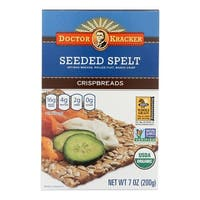 Doctor Kracker Seeded Spelt Crispbreads - Case of 6 - 7 oz.
