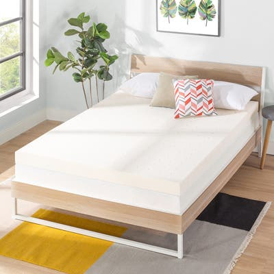 4 Inch Ventilated Memory Foam Bed Topper - Crown Comfort