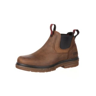 Rocky Work Boots Mens Elements Shale Waterproof Leather Brown