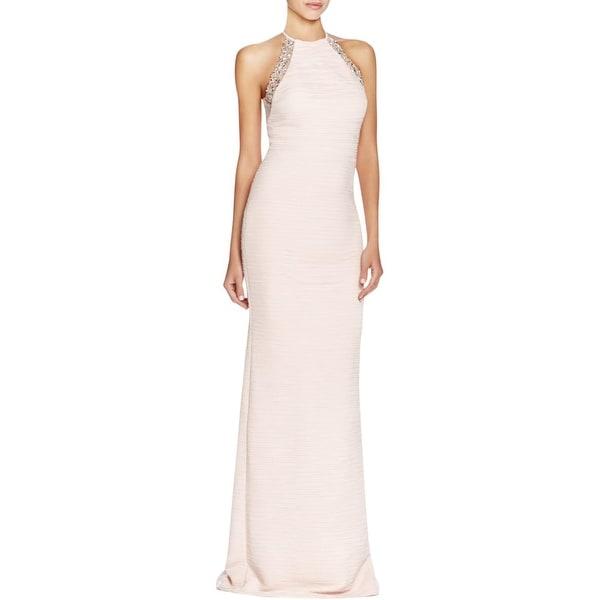 Shop JS Boutique Womens Evening Dress Pintuck Embellished - Free ...