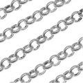 Antiqued Silver Plated Round Rolo Chain 3.7mm Bulk By The Foot - Thumbnail 0