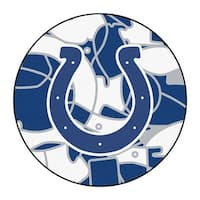 NFL Indianapolis Colts Rounded Non-Skid Mat Area Rug