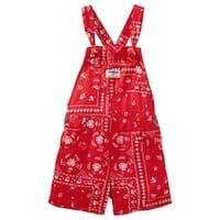 OshKosh B'gosh Little Girls' Bandana Print Linen-Blend Shortalls (2-Toddler)