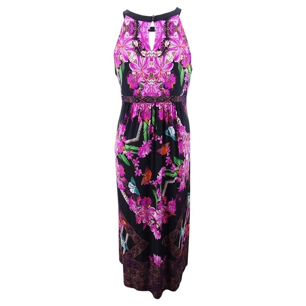 INC International Concepts Womens Plus Size Ribbed Maxi Cardigan
