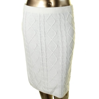 NY Collection Womens Cable knit Sweater Pencil Skirt
