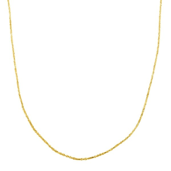 Just Gold 20-Inch Criss-Cross Chain in 14K Gold - Yellow