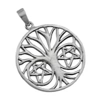 Sterling Silver Pentalpha Tree of Life Pendant for Protection